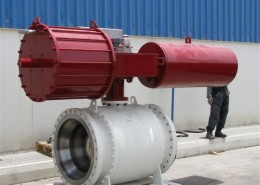 30inch 600 Trunnion mount Ball Valve - Actuated
